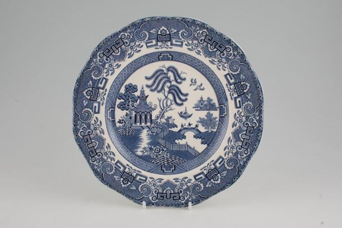 Wedgwood Willow - Blue Breakfast / Salad / Luncheon Plate Wavy Rim 9""