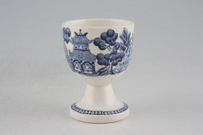 Wedgwood Willow - Blue Egg Cup Footed 1 7/8 x 2 3/8""