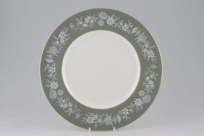 "Wedgwood Fieldfare - Green Dinner Plate 10 3/4"""