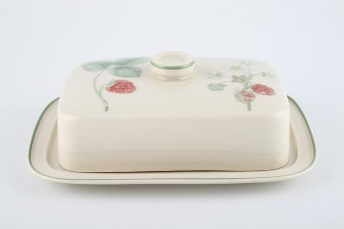 Wedgwood Raspberry Cane - Sterling Shape Butter Dish + Lid