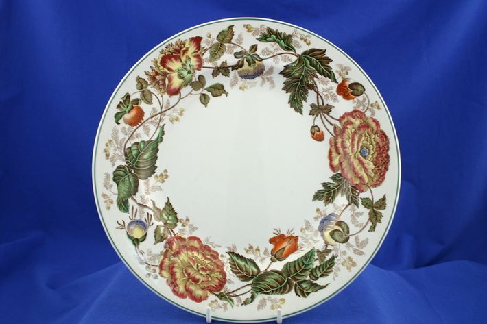 Wedgwood Surrey - Green Edge - Yellow + Orange Flowers