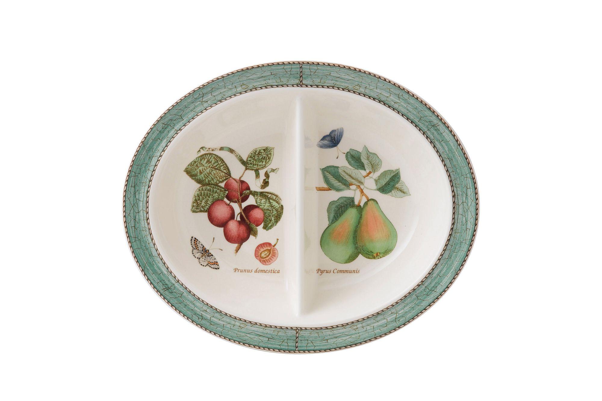 Wedgwood Sarah's Garden Vegetable Dish (Divided) Green thumb 1