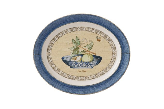 "Wedgwood Sarah's Garden Oval Platter Blue 16 3/8"""