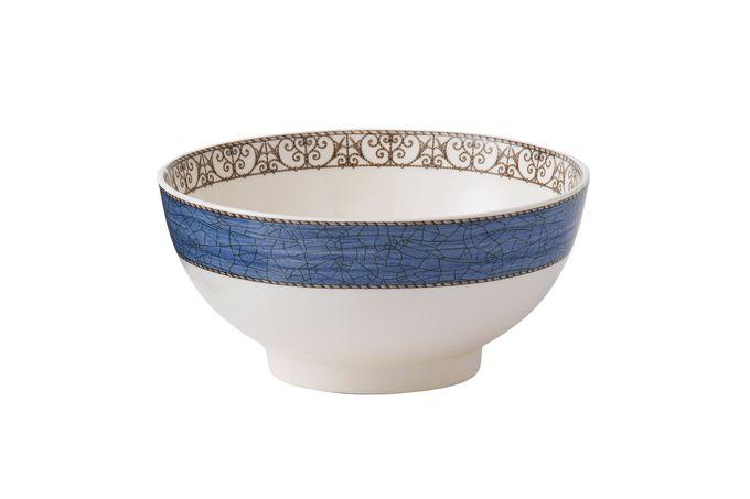"Wedgwood Sarah's Garden Serving Bowl Blue 8"""