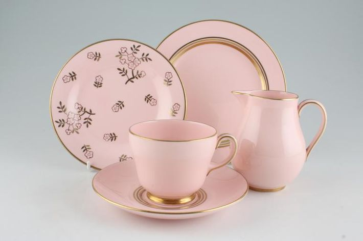 Wedgwood Alpine Pink - Gold Edge