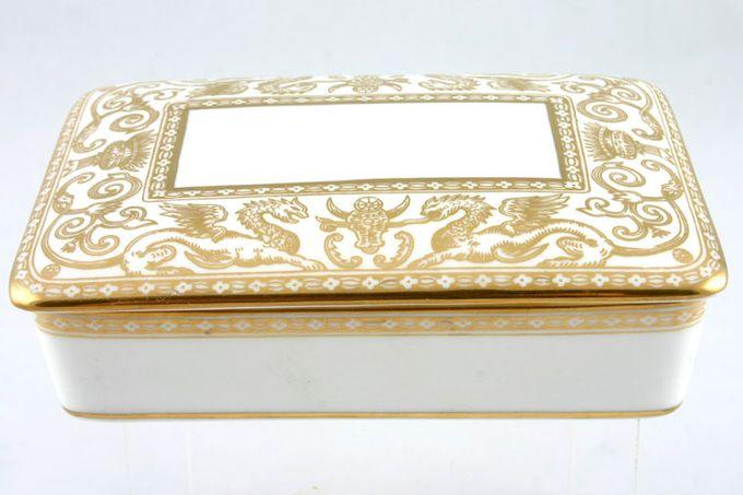 Wedgwood Florentine - Gold - Green Backstamp - W4219 Cigarette Box