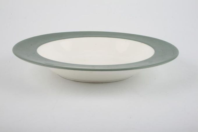 """Wedgwood Asia - Green - No Pattern Rimmed Bowl 7 7/8"""""""