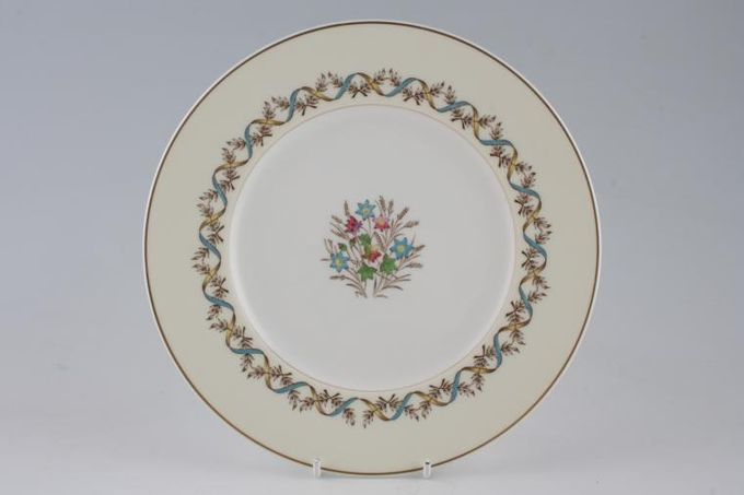 "Wedgwood Sandringham - Blue and Yellow Breakfast / Salad / Luncheon Plate 8 3/4"""